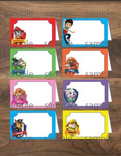 Paw Patrol Food Tent Cards -Instant Download-Printable Paw Patrol Labels-Paw Patrol Party Table Label- Paw Patrol-Birthday- INSTANT DOWNLOAD