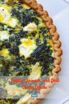 This quiche is a filling meal, studded with soft potatoes and tart goat cheese that will keep you satisfied but won't have you retiring to the couch to recover. Quiche Recipes, Brunch Recipes, Pasta Recipes, Salty Tart, Goat Cheese Quiche, Recipe For Mom, Spring Recipes, Vegetarian Cheese, Potatoes