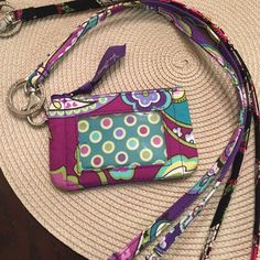 Vera Bradley Landyards and Card Case Very lightly used. Excellent condition. Purple lanyard is the breakaway style. Vera Bradley Accessories Key & Card Holders
