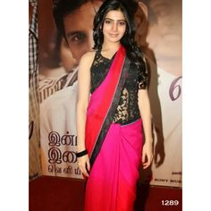 Samantha Black Berry Bollywood Replica Saree