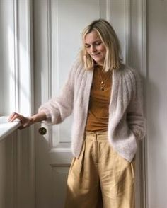 Ravelry: Sunday Cardigan - Mohair Edition pattern by PetiteKnit Mohair Yarn, Mohair Sweater, Knit Cardigan Pattern, I Cord, Knit In The Round, Summer Pants, Yarn Shop, Stockinette, Cardigans For Women