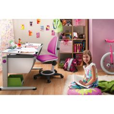 Have to have it. Champion Kids Maximo Adjustable Desk Chair in Magenta $783.00