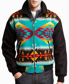 Pendleton Men's Big Horn Coat Yavapai Turquoise