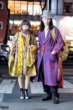 """tokyo-fashion: """"Asuka and Shota are a vintage-loving Japanese couple we often see around the streets of Harajuku. Their looks here are put together from pieces purchased at various Tokyo vintage and. Tokyo Fashion, Japon Street Fashion, Vintage Street Fashion, Japanese Street Fashion, Harajuku Fashion, Grunge Fashion, Korean Fashion, Fashion Fashion, Harajuku Style"""