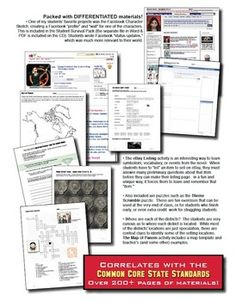 The Hunger Games Teaching Unit - Differentiated & Common Core-aligned. (priced)