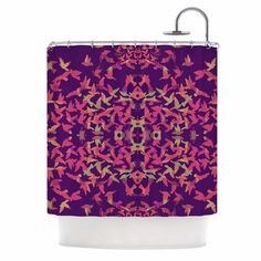 East Urban Home Flying Birds Sunset by Marianna Tankelevich Abstract Shower Curtain