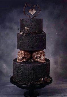 black and white wedding cakes modern black cake twistercakeart cake decorating recipes kuchen kindergeburtstag cakes ideas Skull Wedding Cakes, Gothic Wedding Cake, Gothic Cake, Halloween Wedding Cakes, Dragon Wedding Cake, Gothic Wedding Decorations, Vampire Wedding, Black And White Wedding Cake, Black Wedding Cakes