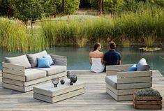 DIY outdoor garden furniture ideas patio set
