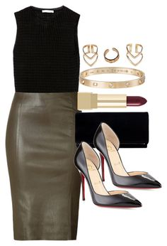 """Style #9462"" by vany-alvarado ❤ liked on Polyvore featuring Zara, Jitrois, Christian Louboutin, Cartier, Yves Saint Laurent and Boohoo"