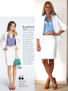 Love the idea of a white pencil skirt for spring!