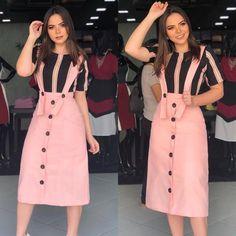 Korean Fashion Dress, Hijab Fashion, African Fashion, Fashion Dresses, Young Fashion, Trendy Fashion, Girl Fashion, Black And Pink Dress, Plus Size Gowns