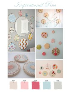 embroidery hoops as wall art