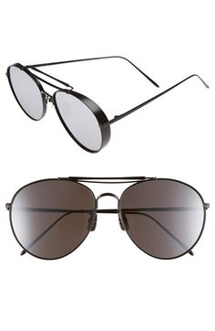 4ebbb7aa8e03 Gentle Monster 60mm Aviator Sunglasses available at Nordstrom Round  Sunglasses