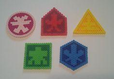 Perler Bead Power Ranger Samurai Symbols