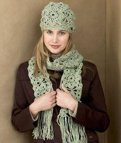 Piazze Uncinetto cappello e sciarpa