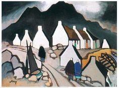 "Markey Robinson, Irish painter (d. 1999)   ""Where the mountains sweep down to the sea."""