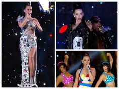 katy perry costumes from Super Bowl 2015 by Jeremy Scott Moschino