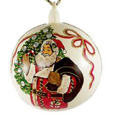 """""""Merry Christmas"""" Hand Painted Christmas Ball No.4."""
