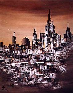 painting jerusalem landscape - Google Search