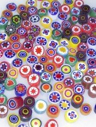 OPAQUE MILLEFIORI SLICES, 5-6mm, 1 oz (approx 135 pcs) 104 COE