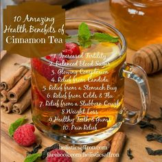 10 Amazing Health Benefits of Cinnamon Tea- Infographic