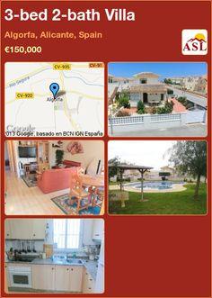 3-bed 2-bath Villa in Algorfa, Alicante, Spain ►€150,000 #PropertyForSaleInSpain