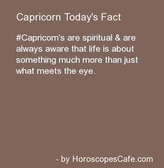 Capricorn Daily Fun Fact