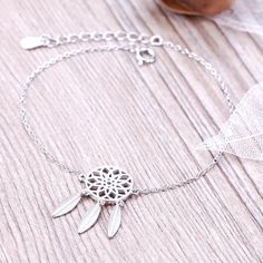 Dreamcatcher Charm Bracelet For Women Fashion Feather Dream Catcher Bracelets & Bangles Sterling Silver Jewelry Only $4.88 => Save up to 60% and Free Shipping => Order Now! #Earrings #Rings #Handmade #Silver Jewelry #Pandora Bracelets #Nature Stone Jewelry #Jewelry #Necklaces #Bracelets