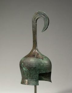 A Greek bronze helmet of Cretan type, circa 650-620 B.C