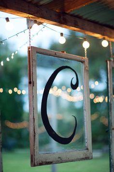 #initials, #windows  Photography: Shea Christine Photography - sheachristine.com  Read More: http://www.stylemepretty.com/2012/02/07/titusville-wedding-by-shea-christine-photography/