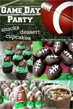 Game Day Party Snacks, Desserts & Cupcakes   Recipes on HoosierHomemade.com