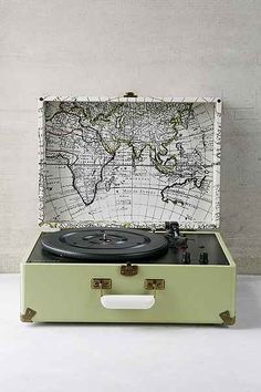 Crosley X UO AV Room Portable USB Vinyl Record Player - Urban Outfitters... I would love to have this to play my dad's Beetles White Album...