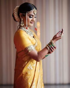 Real Brides Reveal: Where & How They Got Their Outfits For Their Pandemic Wedding Indian Destination Wedding, Indian Wedding Planning, Bridal Lehenga, Saree Wedding, Bridal Outfits, Bridal Dresses, Velvet Saree, Marathi Bride, Wedding Saree Blouse Designs