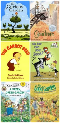 Gardening Books with 50+ fun gardening activities for kids -- great idea for outdoor reading with the kids!