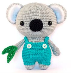 With this pattern by DIY Fluffies you will lear how to knit a Cute Koala amigurumi crochet pattern PDF step by step. It is an easy tutorial about koala to knit with crochet or tricot. Baby Knitting Patterns, Crochet Patterns Amigurumi, Amigurumi Doll, Crochet Dolls, Amigurumi Tutorial, Amigurumi Minta, Hat Patterns, Crochet Bear, Cute Crochet