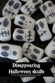 Halloween science activity with disappearing skulls – Laughing Kids Learn Disappearing Halloween skulls science activity Fun Halloween Games, Halloween Science, Halloween Activities For Kids, Science Activities For Kids, Autumn Activities, Halloween Skull, Infant Activities, Halloween Themes, Halloween Crafts