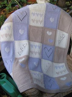 Originally designed for Lets Knit , this sampler baby blanket features several k... Baby Knitting Patterns