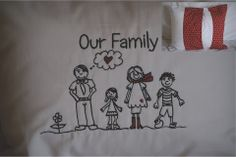 My family pillow, create your own family fb me goggas embroidery