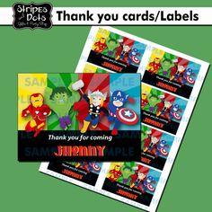 Superheroes Printable LabelsSuperheroes Name by StripesnDotsGifts