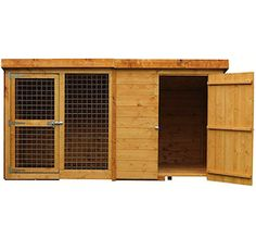 They're great for your dog to stay outside but keep sheltered and free from the rain and sun. These are the best wooden and plastic dog kennels, with. Metal Dog Kennel, Wooden Dog Kennels, Dog Cages, Pet Cage, Dog Cage Outdoor, Roof Cladding, Shiplap Cladding, Plastic Dog Kennels, Brick Roof