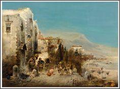 Robert Allot (1850-1910), Agitation sur la Plage de Naples.