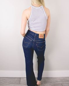 Vintage (XS) Levis 517 High Waisted Denim Jeans