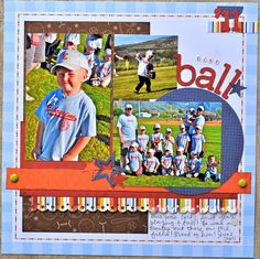 sketch savvy scrapbook page layout
