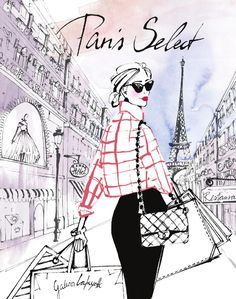 ideas fashion art illustration paris for 2019 Art And Illustration, Fashion Illustration Sketches, Fashion Sketches, Paris Kunst, Paris Art, Vintage Paris, Tour Eiffel, Arte Fashion, Megan Hess