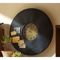 Industrial chalkboard clock -Pottery Barn