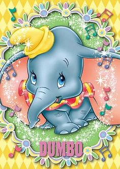 *DUMBO, 1941 Disney Pixar, Walt Disney, Baby Disney Characters, Disney Cartoons, Disney Love, Dumbo Disney, Dumbo Tattoo, Baby Dumbo, Disney Background