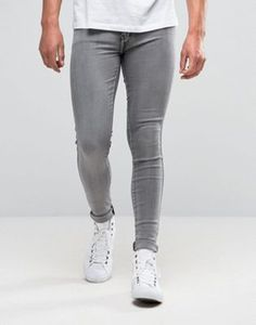 Dr Denim Kissy Extreme Super Skinny Jeans Washed Cement