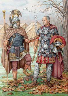 Roman military attire, c. 100CE