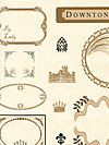 Downton Abbey® - Logos and Labels Collection A-7670-L Fabric