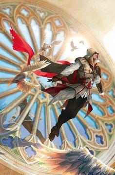 ArtStation - Reflections (Ezio) used as inner page, Liu Yan Arte Assassins Creed, Assassins Creed Black Flag, Dragon Age, Deutsche Girls, Assassin's Creed Wallpaper, Connor Kenway, Arno Dorian, Assassin's Creed Brotherhood, All Assassin's Creed